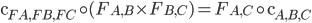 \mathsf{c} _ {FA, FB, FC} \circ (F _ {A, B} \times F _ {B, C} ) = F _ {A, C} \circ \mathsf{c} _ {A, B, C}