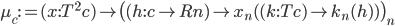\mu _ c := (x : T ^ 2 c) \mapsto \big( (h : c \to Rn) \mapsto x _ n( (k : Tc) \mapsto k _ n (h) ) \big) _ n