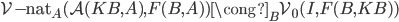 \operatorname{\mathcal{V-}\mathrm{nat} } _ A (\mathcal{A}(KB, A),F(B,A)) \cong _ B \mathcal{V} _ 0(I, F(B,KB))
