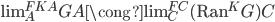 \operatorname{lim} ^ {FKA} _ A GA \cong \operatorname{lim} ^ {FC} _ C (\operatorname{Ran} ^ K G)C