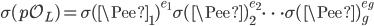 \sigma(\mathfrak{p}\mathcal{O}_L) = \sigma(\Pee_1)^{e_1}\sigma(\Pee)_2^{e_2} \cdots \sigma(\Pee)_g^{e_g}