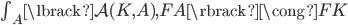 \textstyle\int _ A \lbrack \mathcal{A}(K,A), FA \rbrack \cong FK
