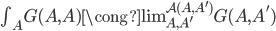 \textstyle\int _ A G(A,A) \cong \operatorname{lim} _ {A,A'} ^ {\mathcal{A}(A,A')} G(A,A')