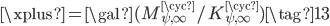 \xplus = \gal(M_{\psi, \infty}^{\cyc}/K_{\psi, \infty}^{\cyc}) \tag{13}