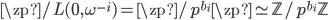 \zp / L(0, \omega^{-i}) = \zp / p^{b_i} \zp \simeq \mathbb{Z}/p^{b_i} \mathbb{Z}