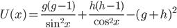 {\displaystyle U(x) = \frac{g(g - 1)}{\sin^2x} + \frac{h(h - 1)}{\cos^2x} - (g + h)^2}