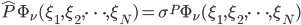 {\hat{P}\Phi_{\nu}(\xi_1,\xi_2,\dots,\xi_N) = \sigma^P\Phi_{\nu}(\xi_1,\xi_2,\dots,\xi_N)}