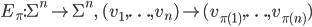 E_{\pi}: {\Sigma}^n \rightarrow {\Sigma}^n, \quad (v_1, \ldots, v_n) \mapsto (v_{\pi(1)}, \ldots, v_{\pi(n)})