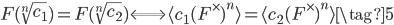 F(\sqrt[n]{c_1}) = F(\sqrt[n]{c_2}) \Longleftrightarrow \langle c_1 (F^\times)^n \rangle = \langle c_2 (F^\times)^n \rangle \tag{5}