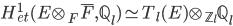 H^1_{et}(E\otimes_F \overline{F}, \mathbb{Q}_l) \simeq T_l(E) \otimes_{\mathbb{Z}_l} \mathbb{Q}_l