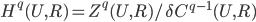 H^q(U,R)=Z^q(U,R) / \delta  C^{q-1}(U,R)