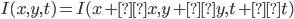 I(x,y,t) = I(x + Δx, y + Δy, t + Δt)
