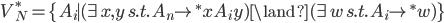 V_{N}^{*} = \{ A_i \mid ( \exists x,y\, s.t.\, A_{n} \rightarrow^{*} x A_i y ) \land ( \exists w\, s.t.\, A_i \rightarrow^{*} w ) \}