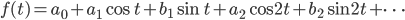 f(t) = a_0 + a_1 \cos t + b_1 \sin t + a_2 \cos 2t + b_2 \sin 2t + \cdots