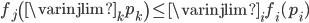 f_{j} \left( \varinjlim_{k} p_{k} \right) \leq \varinjlim_{i} f_{i}(p_{i})