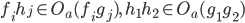 f_ih_j \in O_a(f_ig_j),\ h_1h_2 \in O_a(g_1g_2)