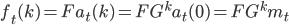 f_t(k) = Fa_t(k) = FG^ka_t(0) = FG^km_t