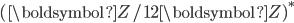 (\boldsymbol{Z}/12\boldsymbol{Z})^{*}