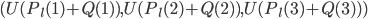 (U(P_l(1)+Q(1) ), U(P_l(2)+Q(2) ), U(P_l(3)+Q(3) ) )