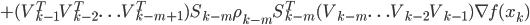 + (V_{k-1}^TV_{k-2}^T\ldots V_{k-m+1}^T) S_{k-m}\rho_{k-m}S_{k-m}^T (V_{k-m}\ldots V_{k-2}V_{k-1}) \nabla f(x_k)