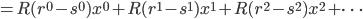 =R(r^0-s^0)x^0+R(r^1-s^1)x^1+R(r^2-s^2)x^2+\dots