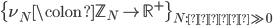 \{\nu_N \colon \mathbb{Z}_N \to \mathbb{R}^+\}_{N:\text{素数} \gg 0}