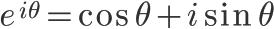 \Huge e^{i\theta}=\cos{\theta}+i\sin{\theta}