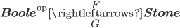\bf{Boole}^{\text{op}}\overset{F}{\underset{G}{\rightleftarrows}}\bf{Stone}