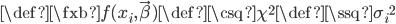 \def\fxb{f(x_i,\vec\beta)}\def\csq{\chi^2}\def\ssq{{\sigma_i}^2}