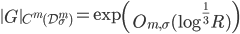 \displaystyle \left\|G\right\|_{C^m(\mathcal{D}_{\sigma}^m)} = \exp\left(O_{m, \sigma}(\log^{\frac{1}{3}}R)\right)