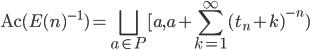 \displaystyle \mathrm{Ac}(E(n)^{-1}) = \bigsqcup_{a \in P}[a, a+\sum_{k=1}^{\infty}(t_n+k)^{-n})
