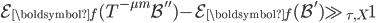 \mathcal{E}_{\boldsymbol{f}}(T^{-\mu m}\mathcal{B}'')-\mathcal{E}_{\boldsymbol{f}}(\mathcal{B}') \gg_{\tau, X} 1