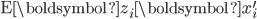 \mathrm{E}\boldsymbol{z}_{i}\boldsymbol{x}_{i}^{\prime}