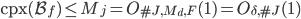 \mathrm{cpx}(\mathcal{B}_f) \leq M_j = O_{\#J, M_d, F}(1) = O_{\delta, \#J}(1)