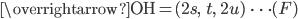 \overrightarrow{\mathrm{OH}}=(2s,\; \; t,\; \; 2u)\; \; \cdots (F)