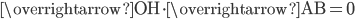 \overrightarrow{\mathrm{OH}}\cdot \overrightarrow{\mathrm{AB}}=0