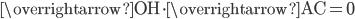\overrightarrow{\mathrm{OH}}\cdot \overrightarrow{\mathrm{AC}}=0