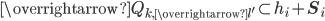 \overrightarrow{Q_{k, \overrightarrow{l'}}} \subset h_i+\mathbf{S}_i