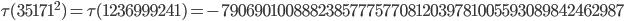 \tau(35171^2)=\tau(1236999241)= -79069010088823857775770812039781005593089842462987
