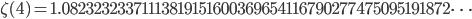 \zeta(4)=1.08232323371113819151600369654116790277475095191872\dots