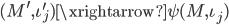 { (M^{\prime}, \iota^{\prime}_{j})\xrightarrow{\psi}(M, \iota_{j}) }