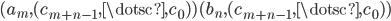 { (a_{m}, (c_{m+n-1}, \dotsc, c_{0}) )(b_{n}, (c_{m+n-1}, \dotsc, c_{0}) ) }