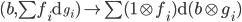 { (b, \sum f_{i}\mathrm{d}_{g_{i}})\mapsto\sum (1\otimes f_{i})\mathrm{d}(b\otimes g_{i}) }