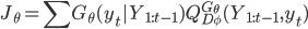 { \displaystyle J_{\theta} = \sum G_{\theta}(y_t|Y_{1:t-1}) Q^{G_{\theta}}_{D_{\phi}}(Y_{1:t-1}, y_t) }