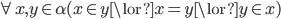 { \forall x ,y \in \alpha(x \in y \lor x = y \lor y \in x)}