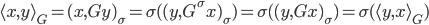 { \langle x, y \rangle_{G} = (x, Gy)_{\sigma} = \sigma( (y, G^{\sigma}x)_{\sigma} ) = \sigma( (y, Gx)_{\sigma} )=\sigma( \langle y, x \rangle_{G} ) }
