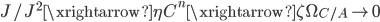 { J/J^{2} \xrightarrow{\eta} C^{n} \xrightarrow{\zeta} \Omega_{C/A} \rightarrow 0 }