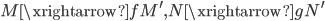 { M\xrightarrow{f}M^{\prime}, N\xrightarrow{g}N^{\prime} }