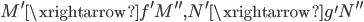 { M^{\prime}\xrightarrow{f^{\prime}}M^{\prime\prime}, N^{\prime}\xrightarrow{g^{\prime}}N^{\prime\prime} }