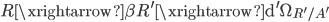 { R\xrightarrow{\beta}R^{\prime}\xrightarrow{\mathrm{d}^{\prime}}\Omega_{R^{\prime}/A^{\prime}} }